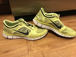 info for 9fac8 872ca Details about Nike Free Run 3 Mens 11 Neon Yellow