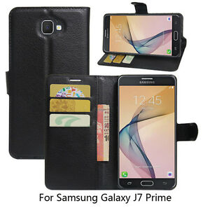 buy popular 37e2c 1db17 Details about For Galaxy J7 Prime Case, Magnetic PU Leather Wallet Cover  For Samsung J7 Prime