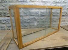 Wooden Framed Glass Vintage Showcase Country General Store Countertop Display P
