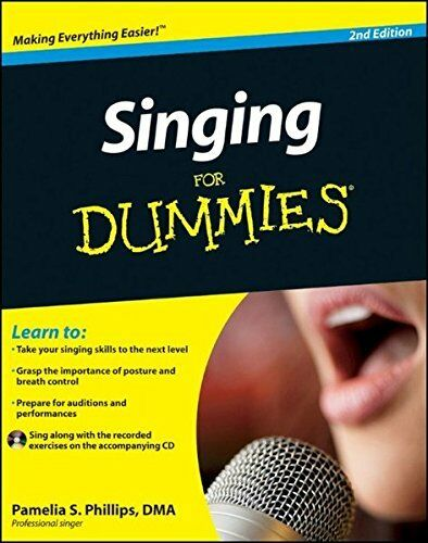 1 of 1 - Singing For Dummies (Book & CD) by Phillips, Pamelia S. 0470640200 The Cheap