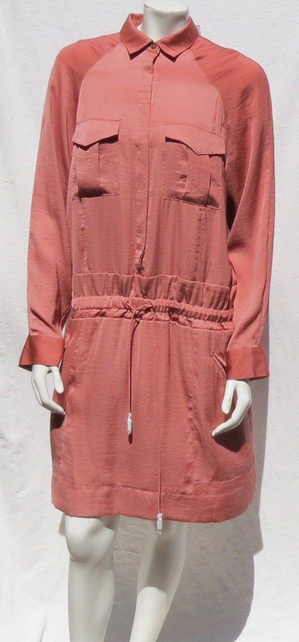 NEW  BANANA REBUBLIC HERITAGE Le Rosa Cargo Shirtdress Shirt Dress Größe 14