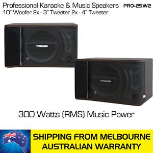 ARTSOUND-KARAOKE-MUSIC-SPEAKERS-PRO-25W-300-WATTS-RMS-PAIR