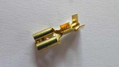 Flachsteckhülse unisoliert 2,5 mm² 50 Stück mit Rastnase für Gehäuse