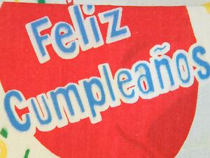 Peachy Happy Birthday In Spanish Feliz Cumpleanos Tablecloth Party Funny Birthday Cards Online Alyptdamsfinfo