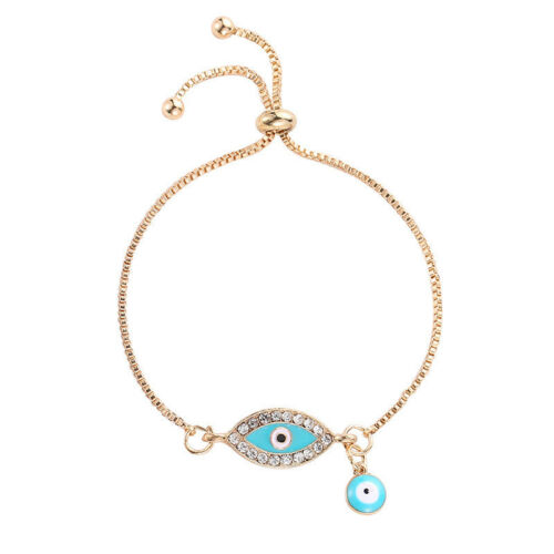 Women/'s Lucky Cristal Alliage Oeil maléfique Party Chaîne Bangle Bracelet Bijoux Cadeau