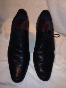 Base-London-Para-Hombre-De-Cuero-Negro-Formales-Zapatos-UK-44-ref-Fe01