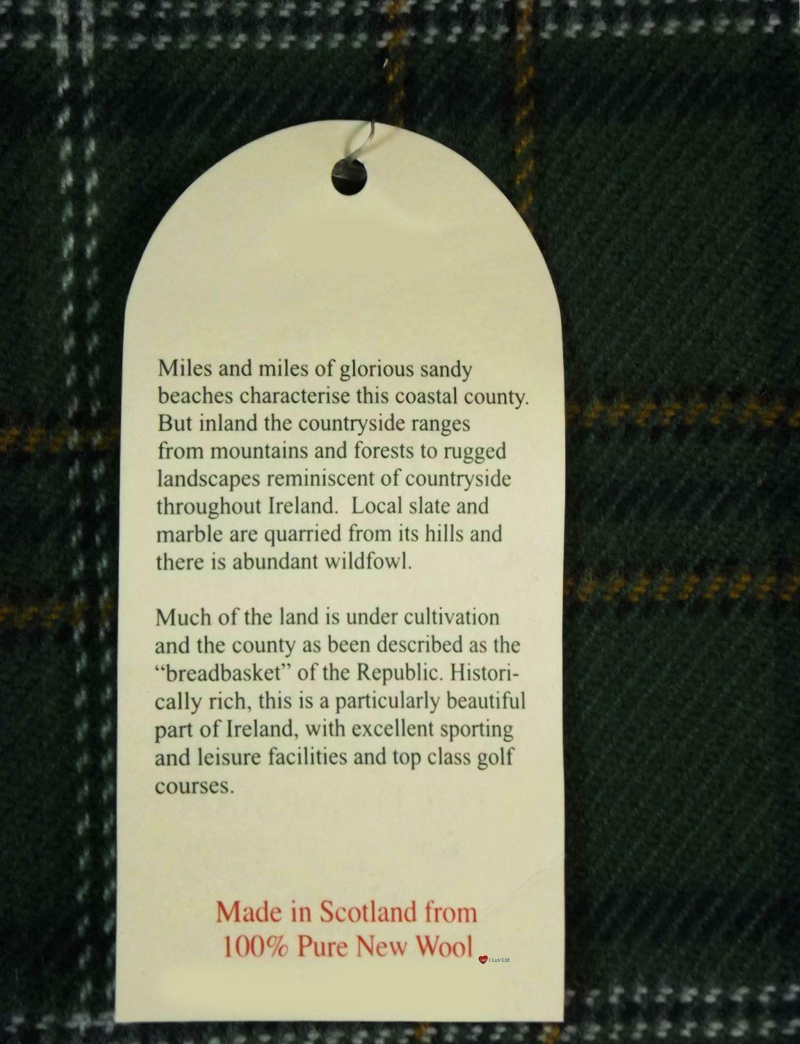 Irish County Wexford Tartan Lambswool Scarf and Wool Necktie Gift Set