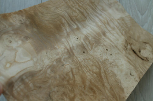 "Ash burl wood veneer mix 5 sheets,~ 0.6 mm ~1//42/"""
