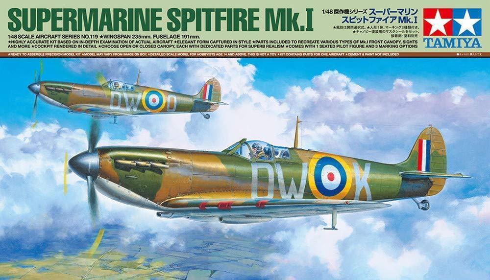 Tamiya 61119 Supermarine Spitfire Mk.I 1 48 Scale Kit JAPAN OFFICIAL IMPORT