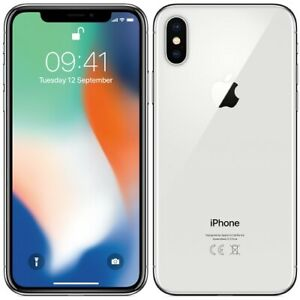 Apple iPhone X - 256GB Silver - Factory GSM Unlocked AT&T / T-Mobile Smartphone