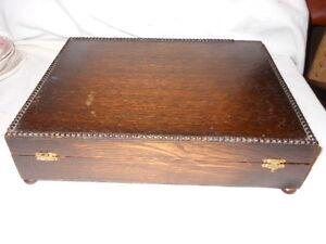 Scatola-in-rovere-Francia-anni-039-50-h-cm-8-5x35x27-French-Oak-Box