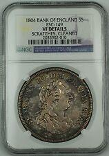 1804 Bank of England 5 Shillings Dollar ESC-149 King George III NGC VF Det. AKR