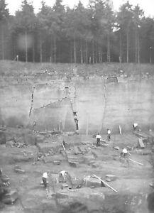 PORPHYRSTEINBRUCH-Dia-Diapositiv-Glas-historisch-lt-1930-Raritaet-Sammlerstueck-rar