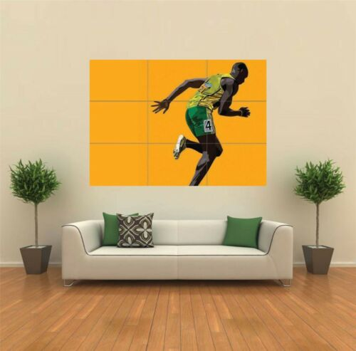 USAIN BOLT VECTOR NEW GIANT LARGE ART PRINT POSTER PICTURE WALL X1427