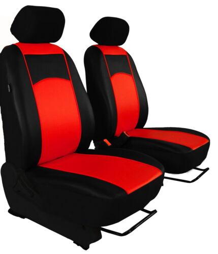 Sitzbezüge für VW CADDY 2K DESIGN Kunstleder HELLROT. Vordersitzbezüge