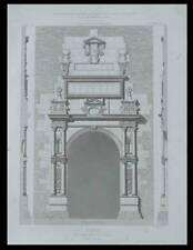 TOULOUSE, PORTE DU CAPITOLE, JARDIN DES PLANTES - 1870 - GRAVURE ARCHITECTURE -