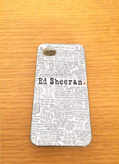 Ed Sheeran Iphone Hard Case - Fits 4,4s,5,5s,5c,6,6+   Song Lyrics
