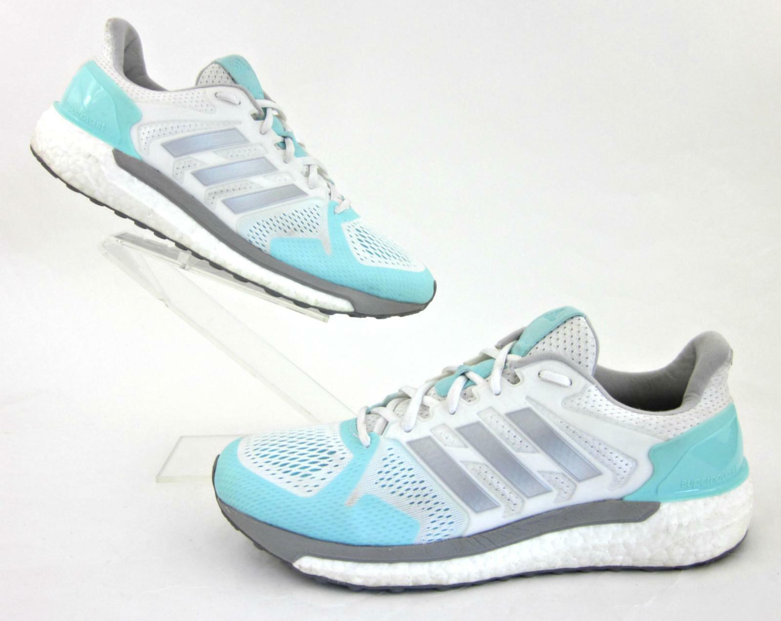 Adidas Supernova ST Boost Womens Running shoes White   Silver   Aqua US 9.5
