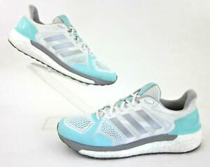 Details about Adidas Supernova ST Boost Womens Running Shoes White / Silver / Aqua US 9.5