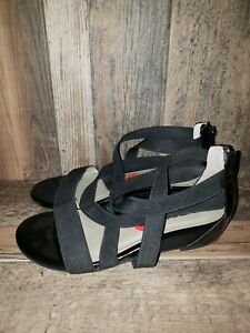 great quality exclusive shoes available Me Too Gia Womens Black Stretch Fabric Gladiator Sandals Sz US 6 ...