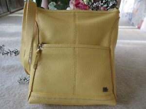 The Sak Lucia Crossbody Yellow Pebble Leather Handbag New