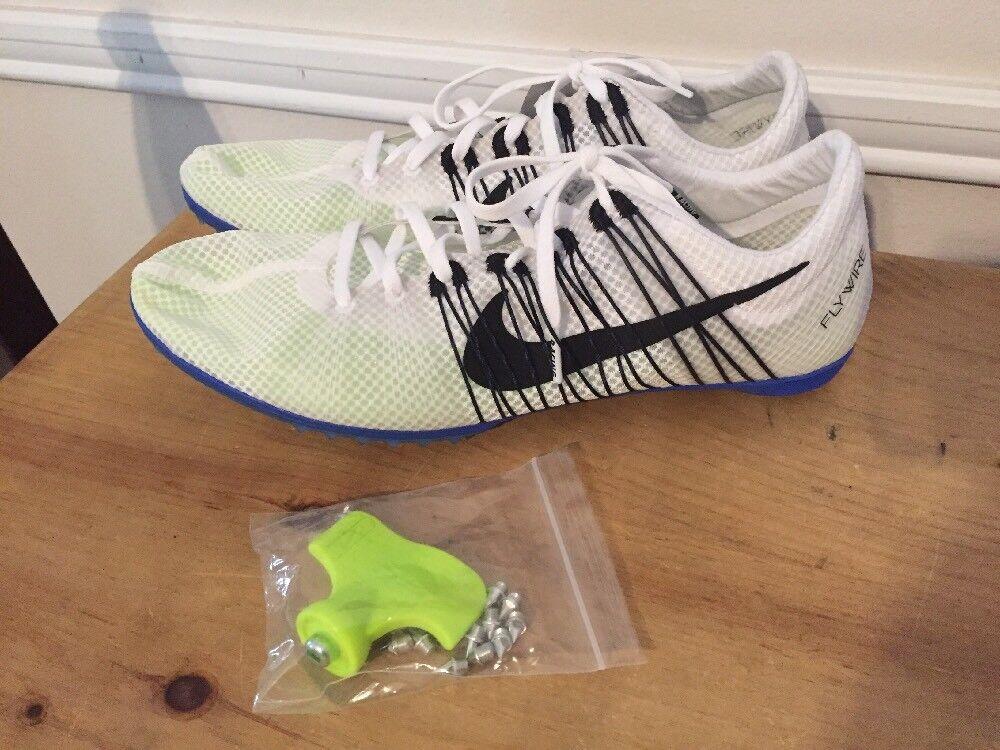nuova vittoria 2 binari mens mens mens nike zoom le scarpe sz 12,5 bianco blu 555365-100 | Forte valore  | Nuovo  | Materiali selezionati  | Uomo/Donne Scarpa  | Maschio/Ragazze Scarpa  | Uomo/Donne Scarpa  5ae0dd