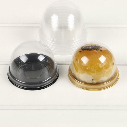 50 set Mini Clear Plastic Cupcake Boxes Cake Packing Boxes Muffin Pod Dome Super