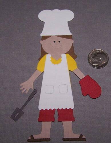 1 Girl Chef Premade PAPER Die Cuts Scrapbook /& Card Making