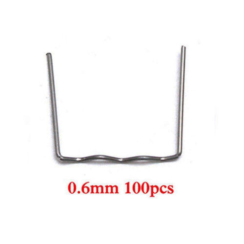 100 Pcs//Set 0.6//0.8MM Hot Wave Flat Staples For Plastic Stapler Repair Welder QW