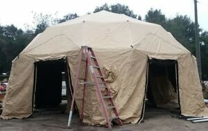 NEW-US-Military-HDT-Base-X-Dome-6D31-Shelter-System-Tent-27x31-039-BIG-FAST-SET-UP
