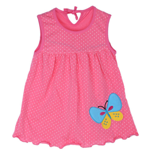 1-2 T Bébé Nouveau-né Bébé Enfants Filles Coloré Doux Cartoon Robe d/'été Vêtements