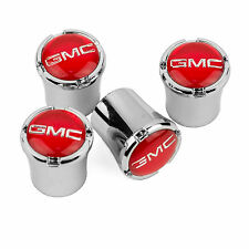 GMC Logo Denali Yukon Tire Valve Stem Caps FREE SHIP MADE USA -RED