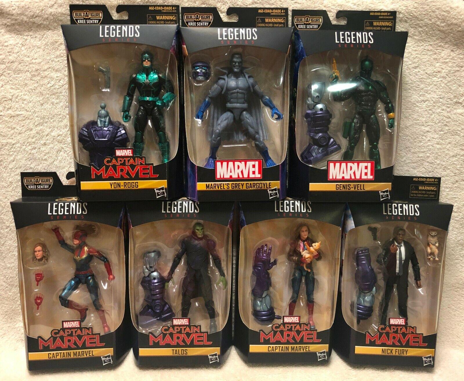 Onda Marvel Leyendas Capitán Marvel Completa Kree Sentry Baf Nuevo Y En Caja
