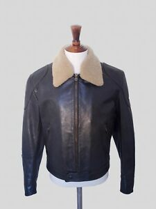 New Shearling With Tags Leather Matchless Jacket Flight Size L F0nxYT0