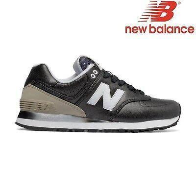 NEW Balance 446 80s Scarpe Running Sneaker Pelle Scarpe Blu Nero NB UNISEX