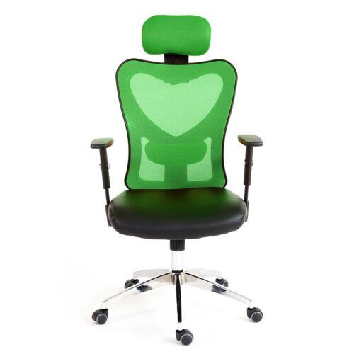 Drehstuhl Profi-Bürostuhl Pamplona XXL 150kg belastbar Kunstleder grün