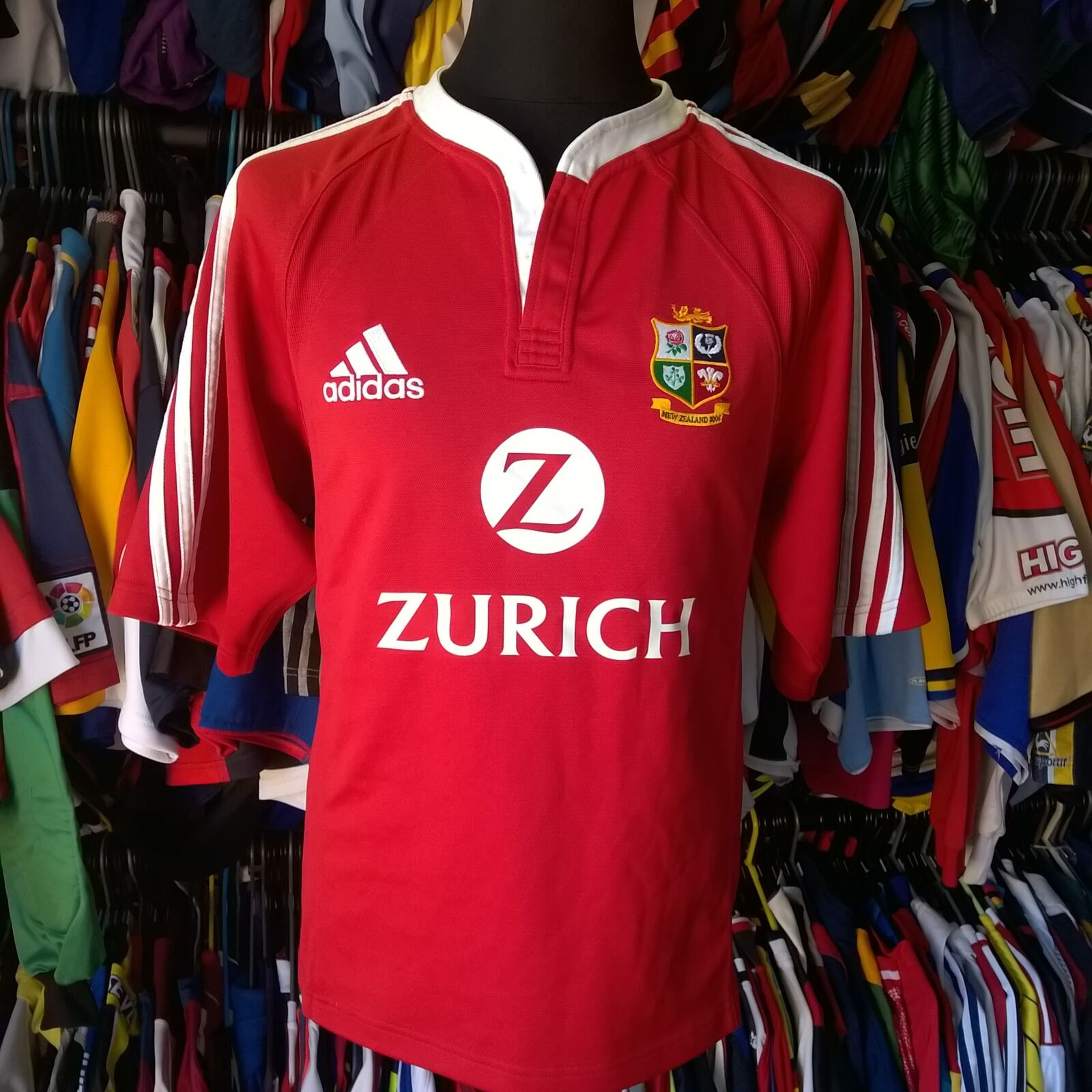 BRITISH LIONS 2005 HOME UNION RUGBY SHIRT ADIDAS JERSEY SIZE ADULT M