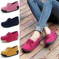 Spring Women Wedges Shoes Platform shoes Suede Casual Slip On Tassels Shoes