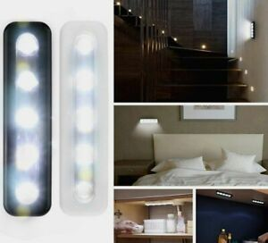 5-LED-Cabinet-Closet-Light-Kitchen-Corridor-Strip-Nightlight-Wall-Lamp-Touch-LOT