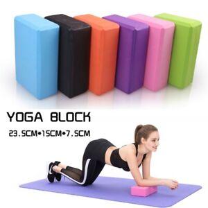 2 Pcs Yoga Block EVA Foaming Foam Brick Pilates Exercise Gym Fitness Up Stretchi