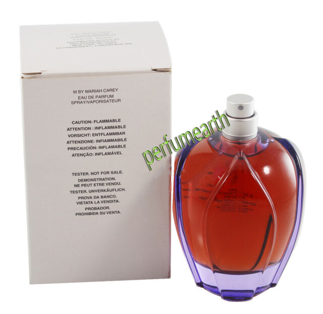 M By Mariah Carey Tster No Cap 3.4/3.3 oz. Edp Spray For Women New In Tster Box