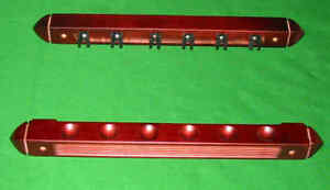 Mahogany-6-cue-Pool-snooker-billiard-table-wall-rack-cue-rest-extension-holder