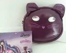 2 x Katy Perry viola gatto faccia Pochette con Tote / SHOPPING BAG INTERNO NUOVO