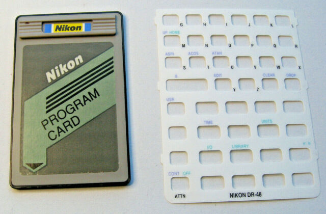 Nikon Program DR48 card for HP 48GX Hewlett Packard Graphing Calculator