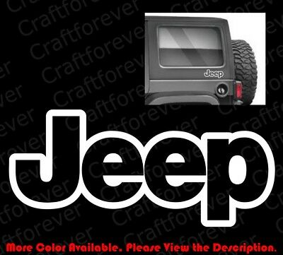 Outline Only Rubicon Jeep Wrangler Car Bumper Window Die