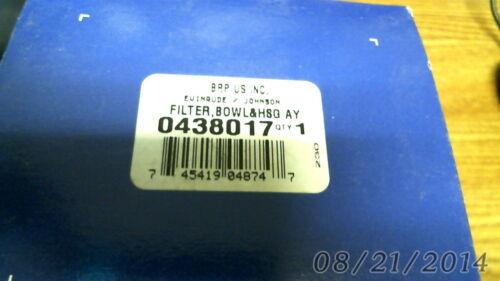 Evinrude Johnson OMC OEM Part 438017 FILTER,BOWL/&HSG AY