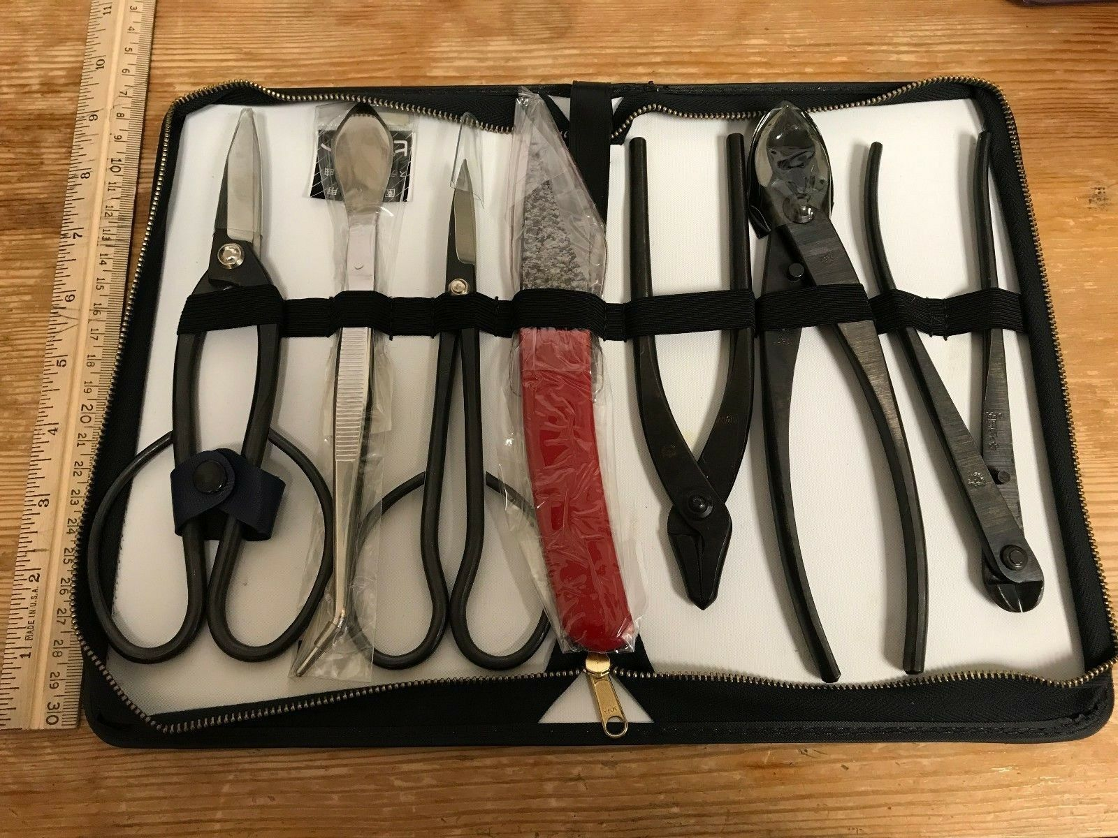 Bonsai Tool Set - 8 Piece set - From Japan - Durable Carbon Steel
