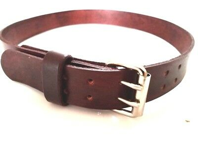 "1.3//4/"" WIDE HEAVY DUTY HAND MADE LEATHER WORK GUN TOOLS HOLSTER 2 PRONG BELT"