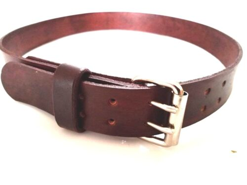 """1.3//4/"""" WIDE HEAVY DUTY HAND MADE LEATHER WORK GUN TOOLS HOLSTER 2 PRONG BELT"""