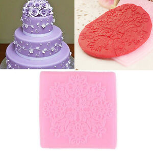 3d lace silicone mold mould sugar craft fondant mat cake for 3d printer cake decoration